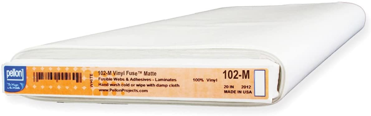 Pellon Fuse Flexible Vinyl Stabilizer-Clear Matte 20 x 20yd, Transparent