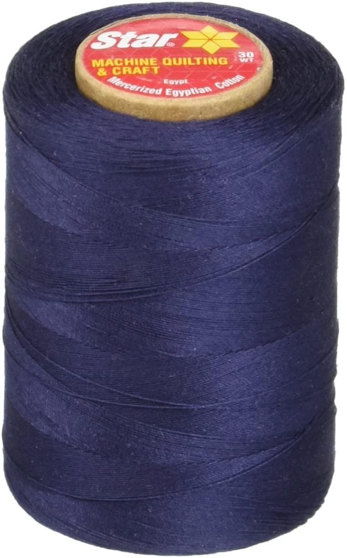 Star Mercerized Cotton Thread Solids 1200 Yards-Navy