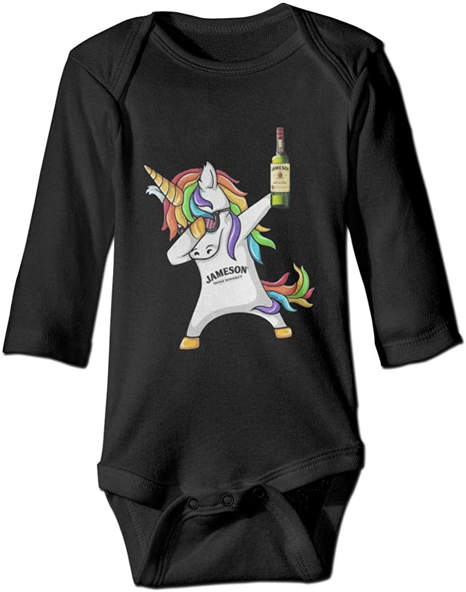 Winodfrw Unicorn Dabbing Jameson Irish Whiskey Bodysuit Baby Jersey