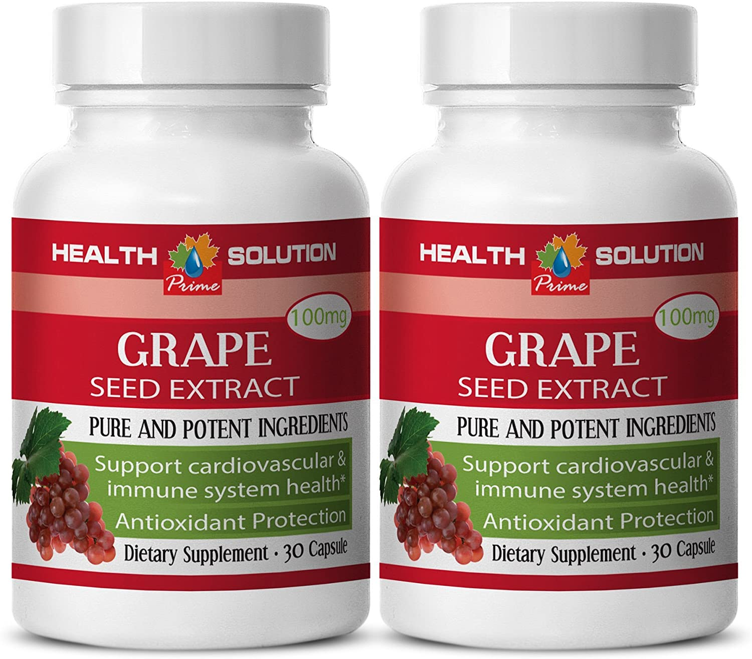 Grapeseed Dietary Supplement - Grape Seed Extract- Protect The Body from Sun (2 Bottles)