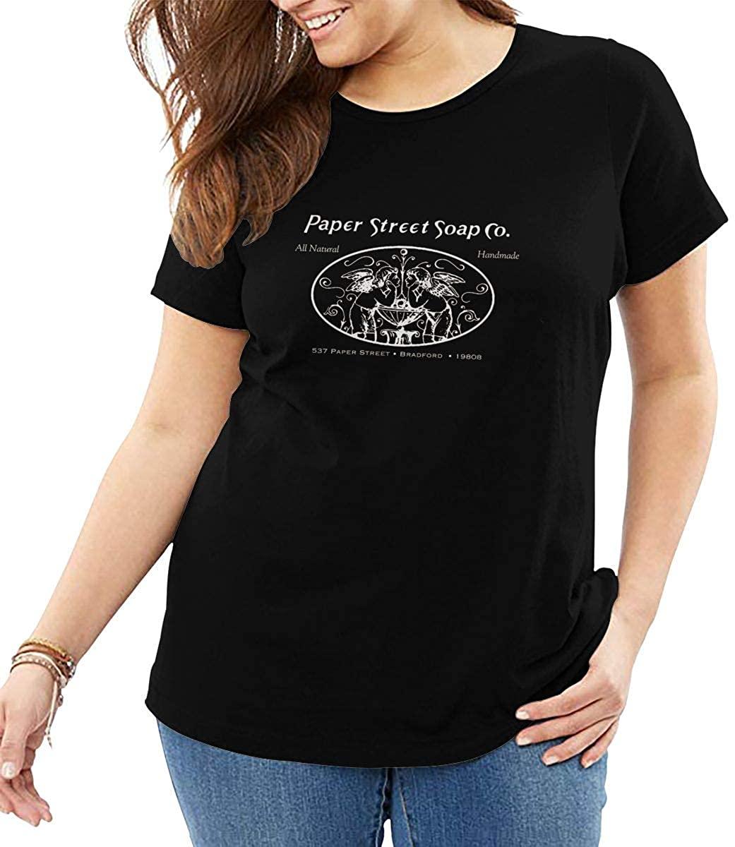 Paper Street Soap Co Women's Plus Size Blouse Top Loose T-Shirt