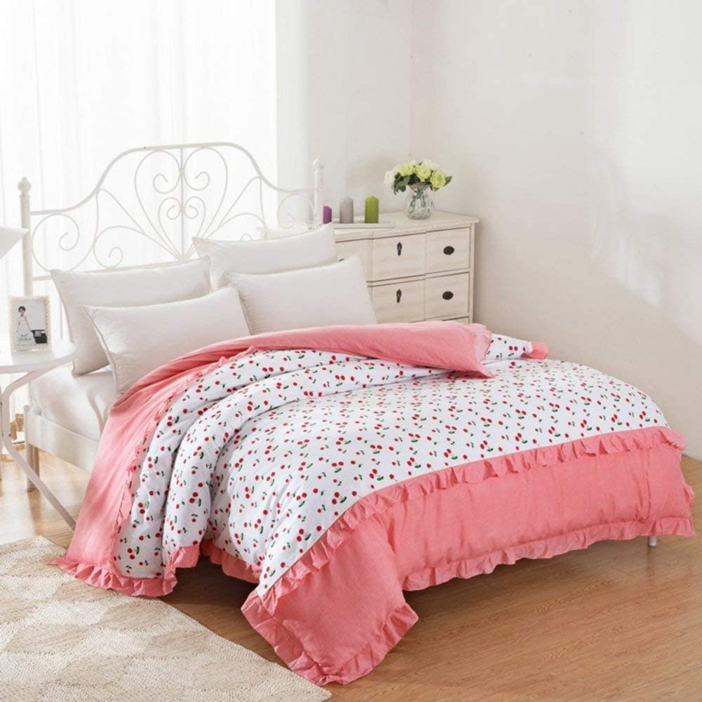 WIN&FACATORY Duvet Cover in Cotton Four Seasons [Grid] Striped Single Student [Single] [Double] -M 180 220cm