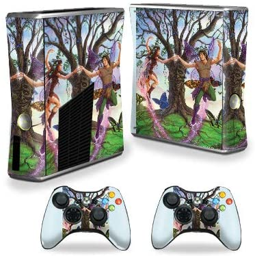 MightySkins Skin Compatible with Xbox 360 S Console - Enchanted Dance   Protective, Durable, and Unique Vinyl Decal wrap Cover   Easy to Apply, Remove, and Change Styles   Made in The USA