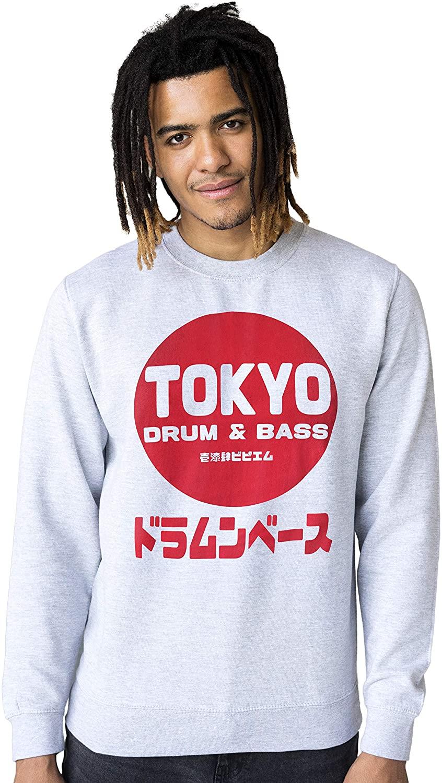 Tokyo Drum and Bass Sweatshirt Japanese Printed Mens Womens Pullover Jumper Top