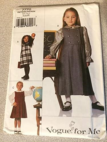 Vogue 7770 Sewing Pattern, Children's Jumper & Blouse, Size 5,6,6x