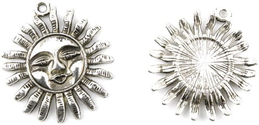 3 PCS Jewelry Making Charms TT0872 Sun Helius Antique Silver Tone Necklace Bracelet Repair Bulk Lots Pendant Findings