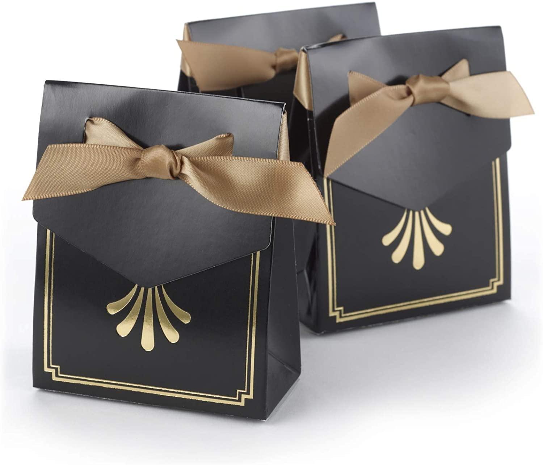 9pk Art Deco - Tent Boxes - Gold-Favors