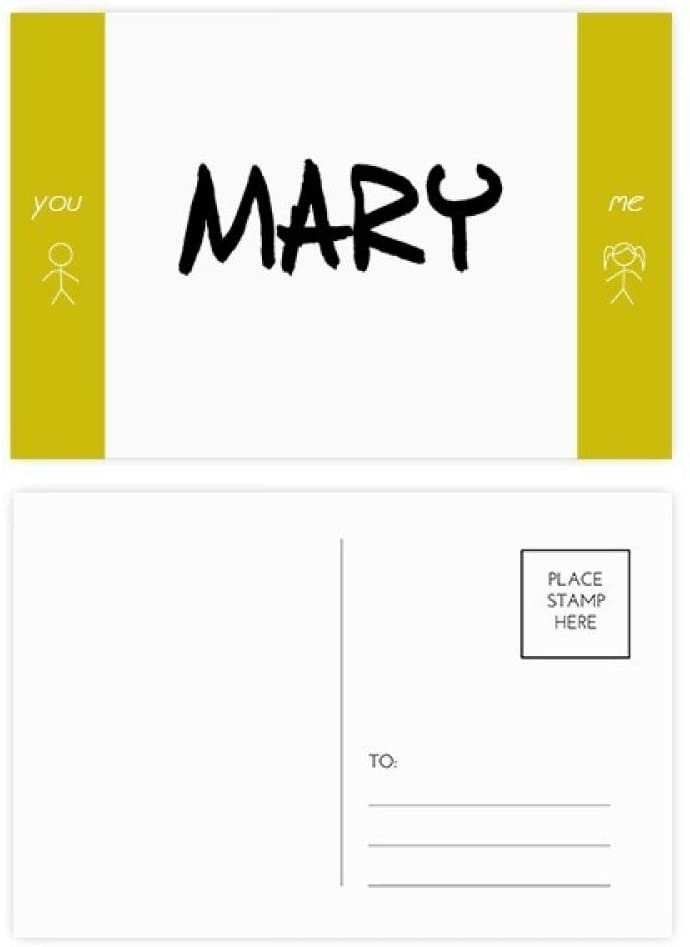 Special Handwriting English Name MARY Friend Postcard Set Thanks Card Mailing Side 20pcs