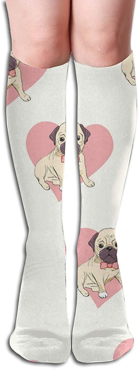 Custom Women Knee Socks Cute Foxes Girls Long High Knee Stocking One Size Soft & Breathable