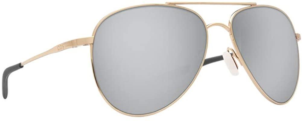 Costa Del Mar Men's Cook Aviator Sunglasses, Gold/Silver Mirror-580P, 60 mm