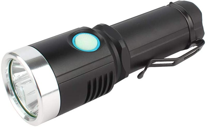 XPE LED Flashlight,Aluminum Alloy Body,Press Switch,7 Modes-Dimming,1x18650/1x26650/3 X AAA Battery,USB Charge,Four-Color Beam Flashlight.