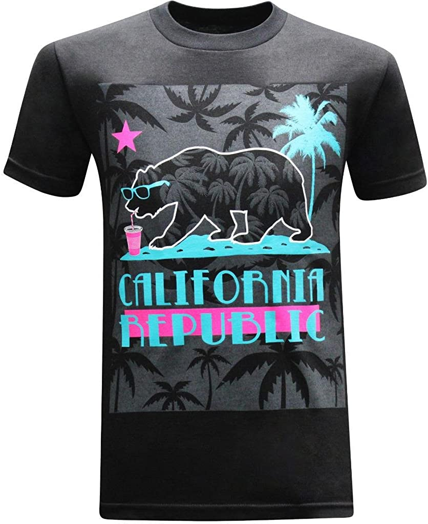 tees geek California Republic Summer Chillen' Men's T-Shirt