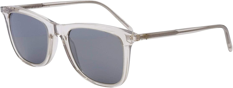 Yves Saint Laurent sunglasses (SL-304 010) Transparent Beige - Grey with Silver mirror effect lenses