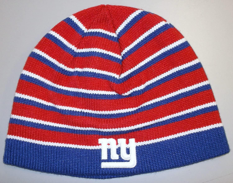 Reebok New York Giants Striped Knit Hat - OSFA - K423Z