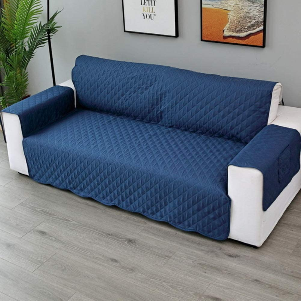 XFXDBT Pet Sofa Cushion Anti Slip Sofa Cover Waterproof Sofa Slipcover with Adjustable Elastic Straps Furniture Cover Protector for Dogs Cats Tibetan Cyan 1 Seater-55x195cm
