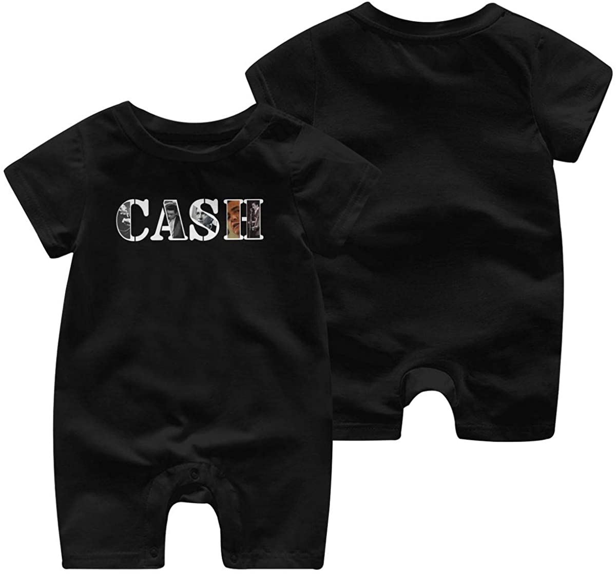 SamanthaRPeters Johnny Cash Fashion Short Sleeve Baby Jersey Bodysuit