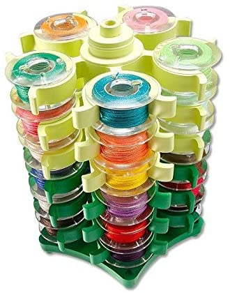 ShineBear Stack'N Store Embroidery Bobbins Tower Storage for 30 BOBBINS Sewing Quilt Bobbin Town