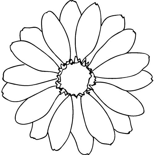 Azeeda A7 'Daisy Flower' Unmounted Rubber Stamp (RS00007892)