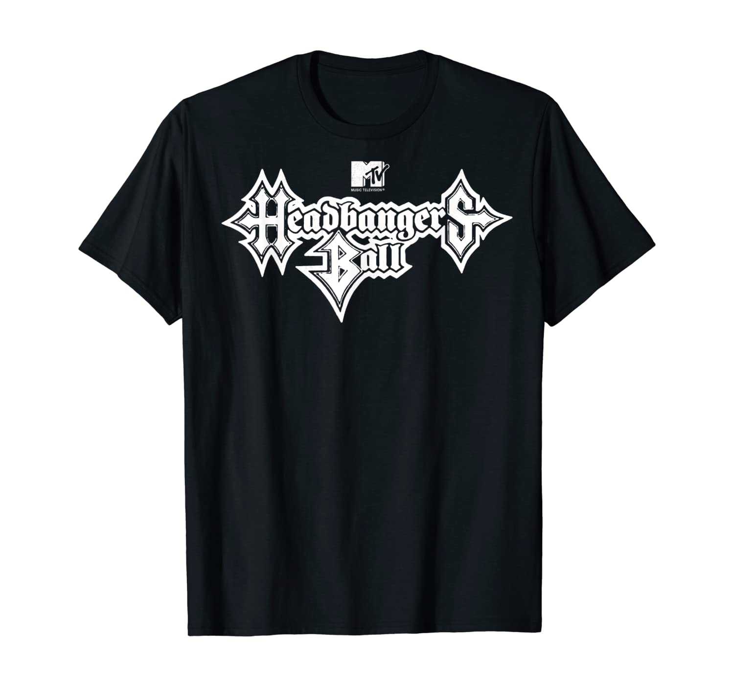 MTV Headbangers Ball Metal Text T-Shirt