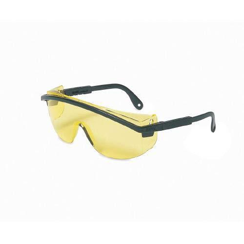UVEX by Honeywell 763-S137 Astrospec Series 3000 Safety Eyewear, Black Frame, Silver Mirror Lens, Ultra-dura Anti-Scratch Coating (Pack of 10)