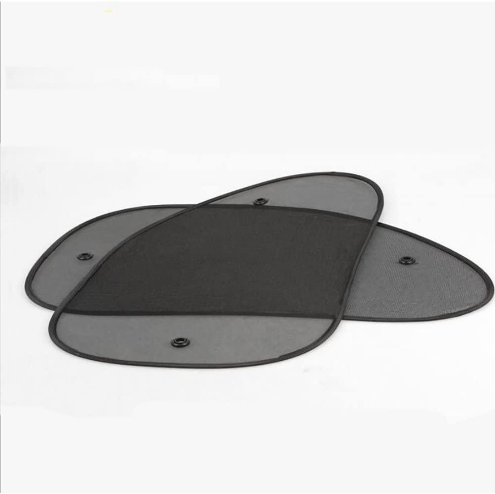 FuChuTech 2PCS Car Window Shade Black Automotive Sun Shade UV Ray Protector Privacy Screen (Black)