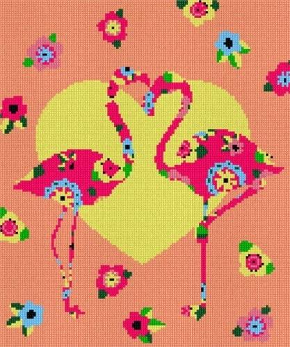 Pepita Flamingo Art Deco Needlepoint Kit