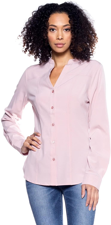 Rokoko Women's V Neck Button Down T Shirts Blouse