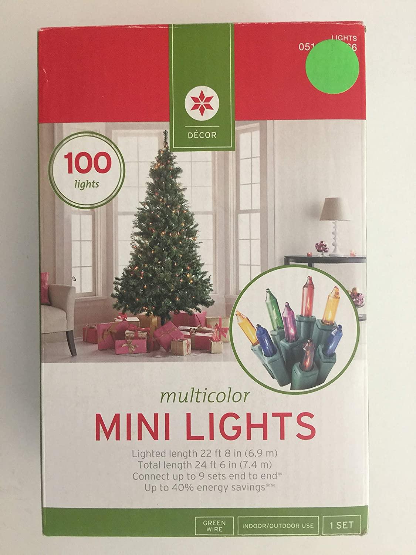 Multicolor Mini Lights Green Wire (2 pack)