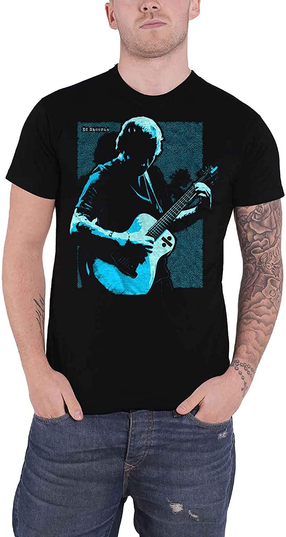 Ed Sheeran T Shirt Guitar Chords Logo Official Mens Black