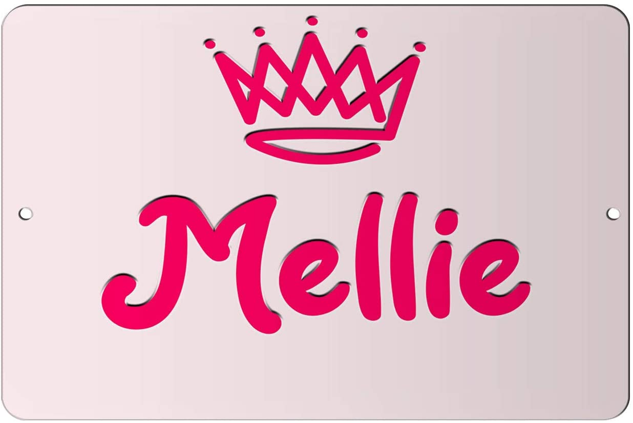 Makoroni - Mellie Girl Female Name 12x18 inc Aluminum Decorative Wall Street Sign