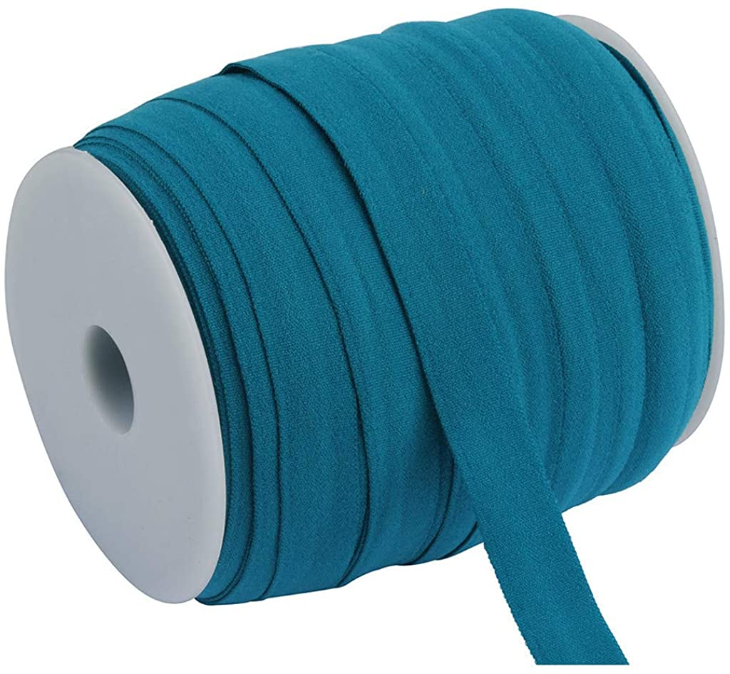 GDJGTA Elastic Band,Multirole Satin Elastic Polyamide Fibre Band Sewing Trim,Stretch Foldover Elastics Ribbon,20 Colors