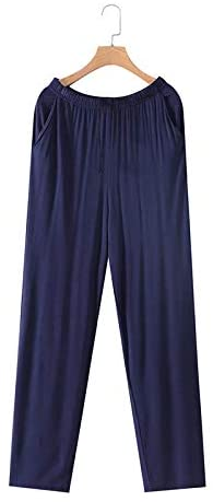 2018 Summer Brand homewear Men's Casual Pajama Men's Heather Cotton Modal Jersey Lounge Pants WIthinkSuper Soft Modal Spandex (L(40KG-55KG))