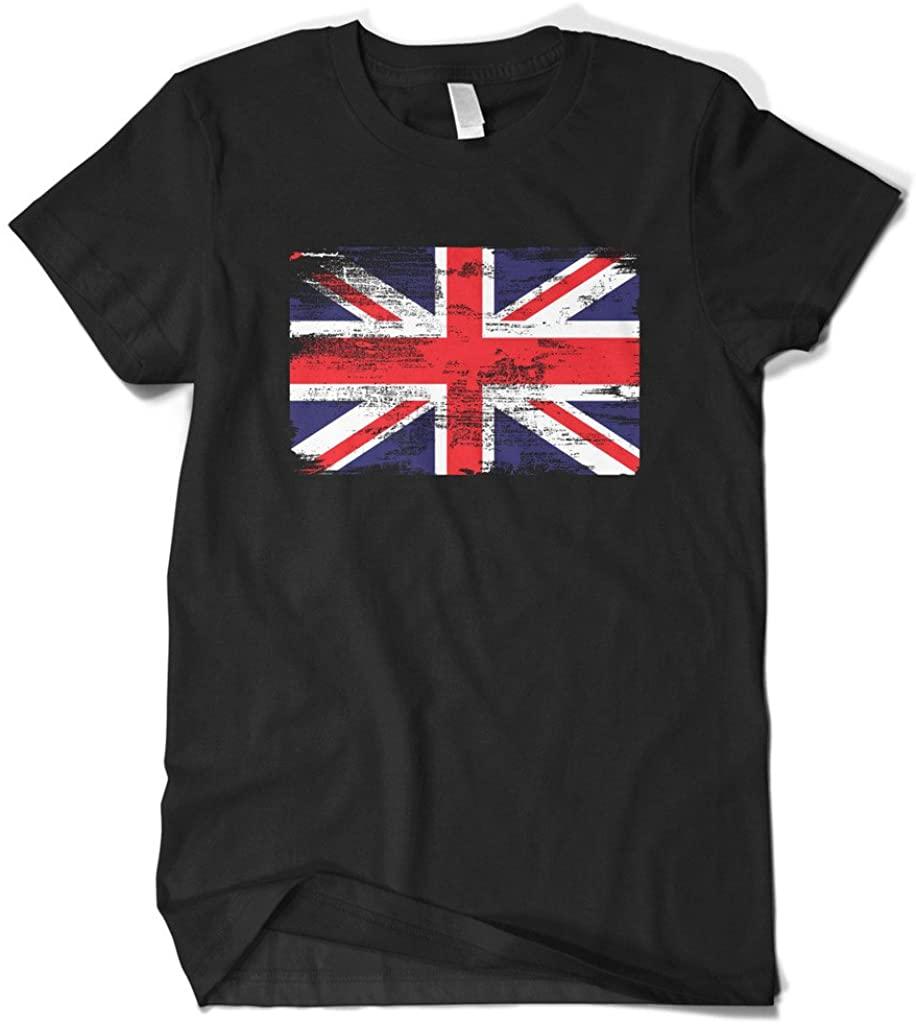 Cybertela Men's Faded Great Britain England Flag T-Shirt