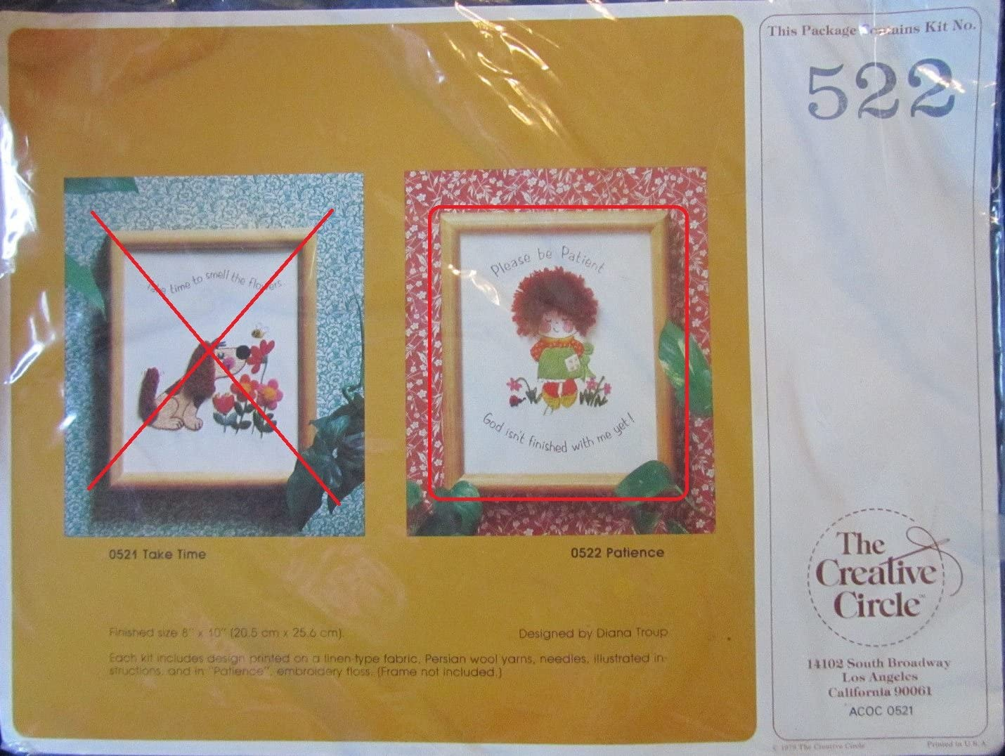 Creative Circle Crewel Embroidery Kits 522 Patience - Girl