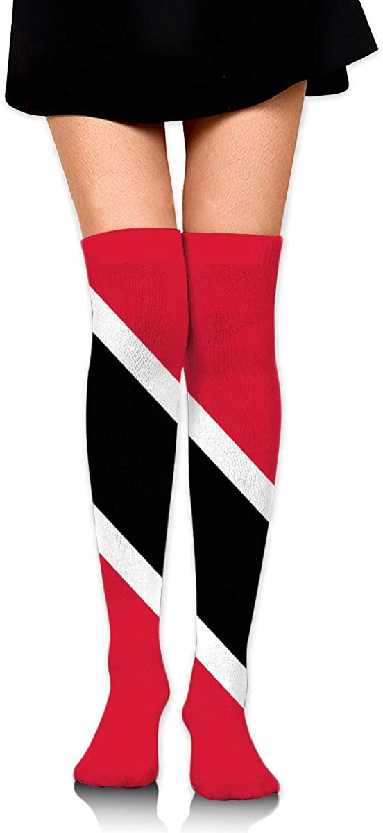 Knee High Socks Flag Of Trinidad And Tobago Women's Athletic Over Thigh Long Stockings