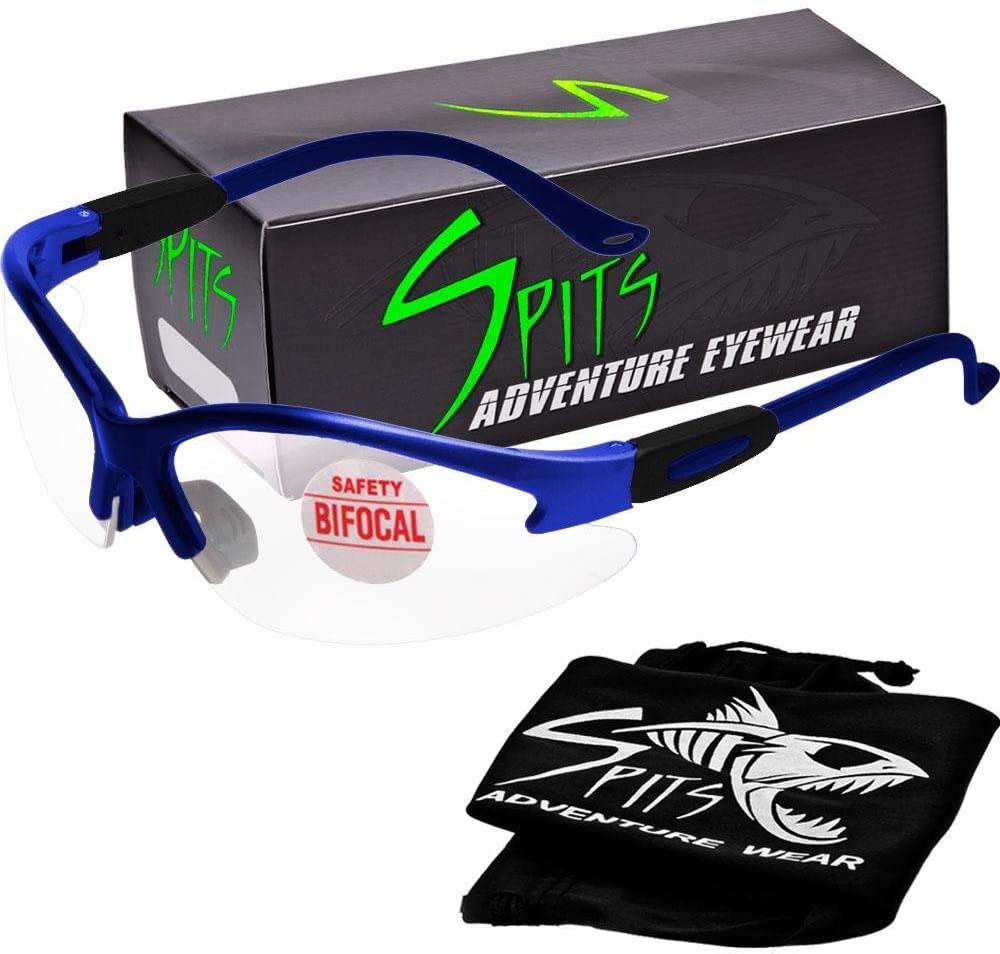 Cougar Magnifying Bifocal Safety Glasses (Frame: Royal Blue, Magnifier 2.5)