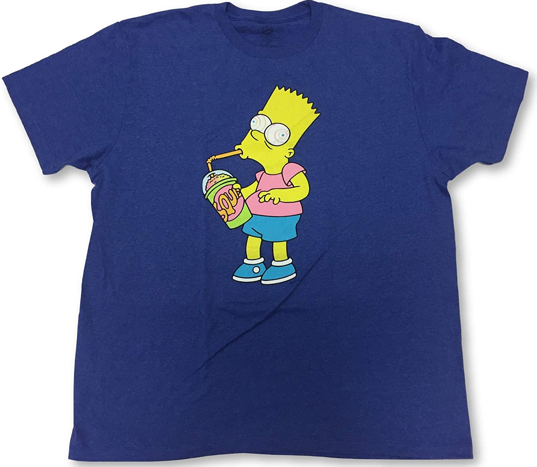 Bart Simpson Brain Freeze Men's Crew Neck T-Shirt