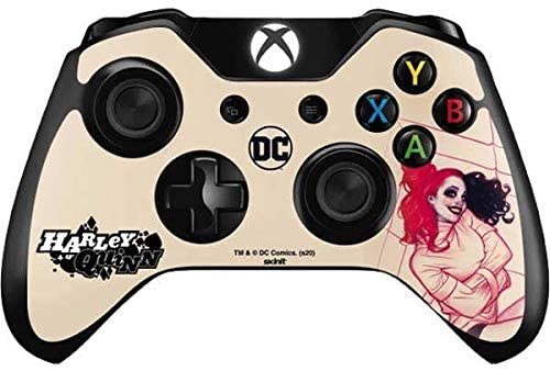 Skinit Decal Gaming Skin for Xbox One Controller - Officially Licensed Warner Bros Harley Quinn Sketch Design