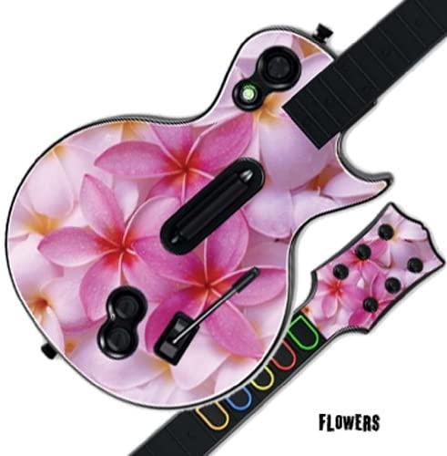 GUITAR HERO 3 III Faceplate Skin Skins for PS3 Xbox 360 Les Paul - Flowers