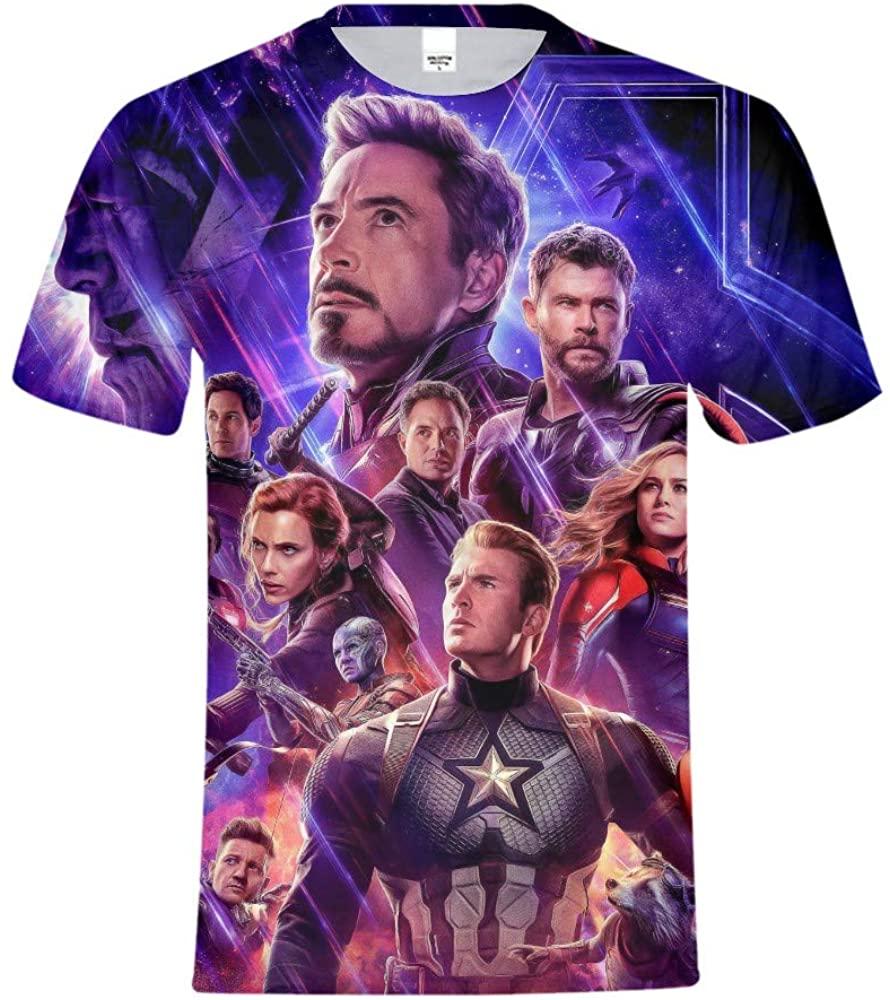 A&C Hero Endgame Tshirt,Endgame Shirt,Endgame Tee Shirt Cosplay T-Shirt for Men Boys Kid Size 5/6
