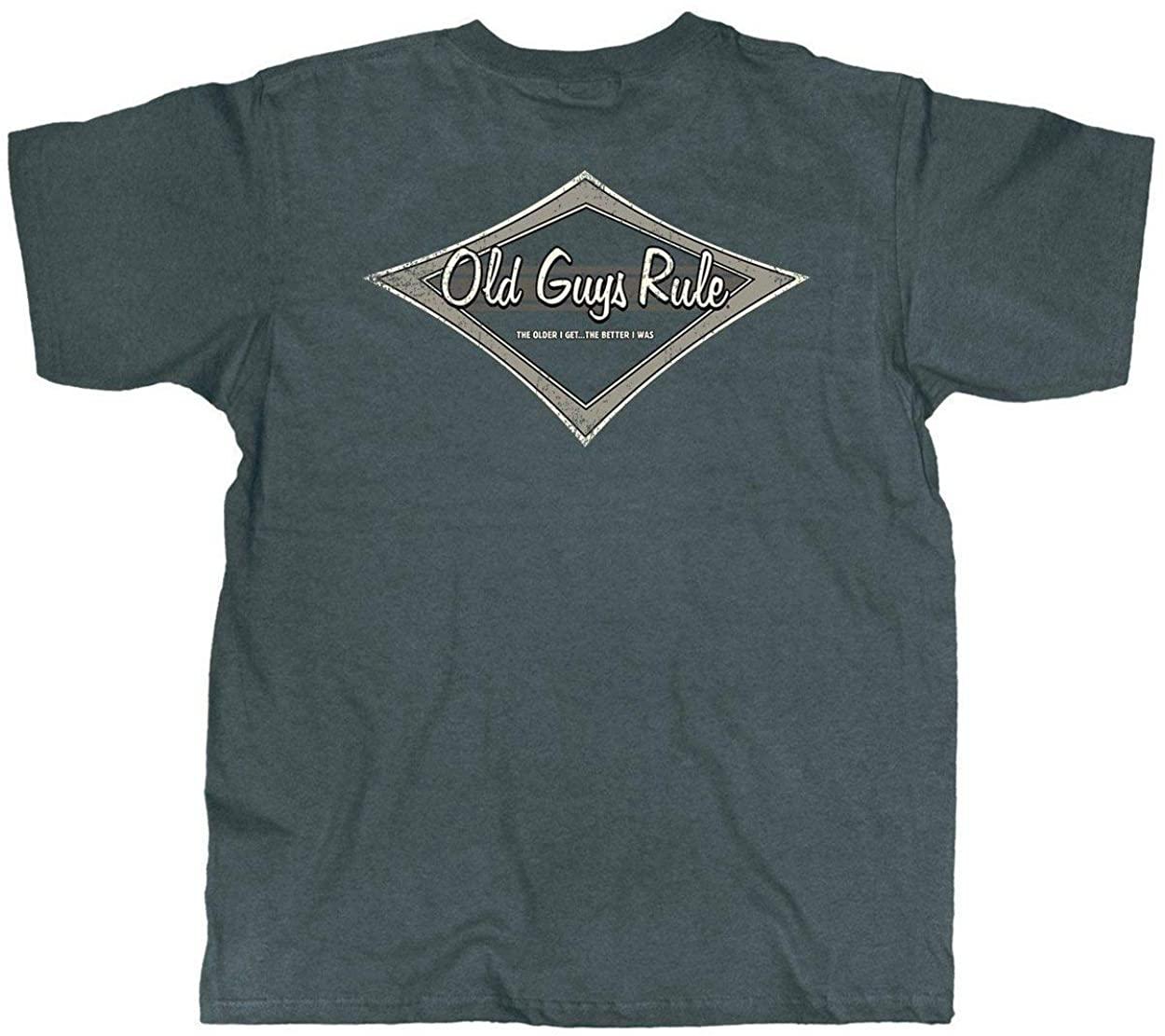 OLD GUYS RULE T Shirt for Men   Tonal Diamond   Dark Heather