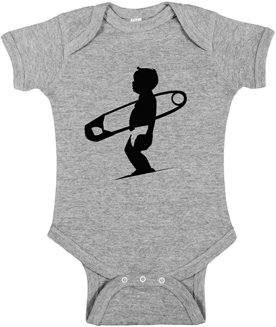 Diaper Pin Surfboard Surfing Baby Wave 100% Cotton Infant Bodysuit Onesie One Piece