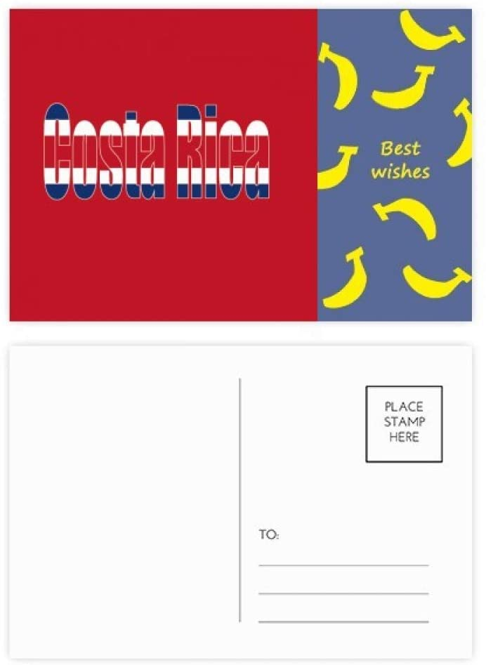 Costa Rica Country Flag Name Banana Postcard Set Thanks Card Mailing Side 20pcs