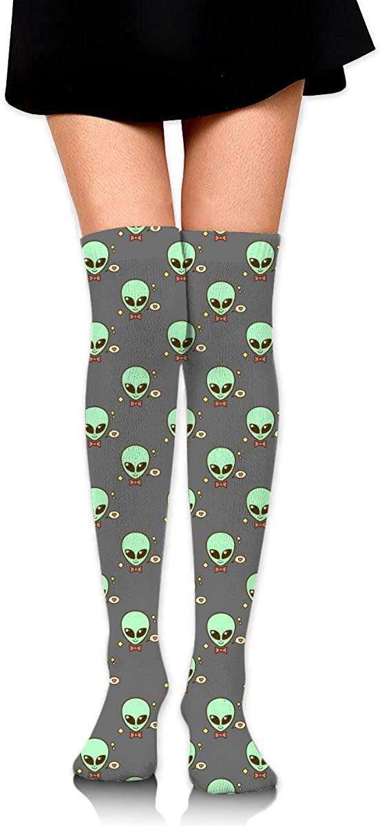 Knee High Socks Cute Alien Women's Athletic Over Thigh Long Stockings