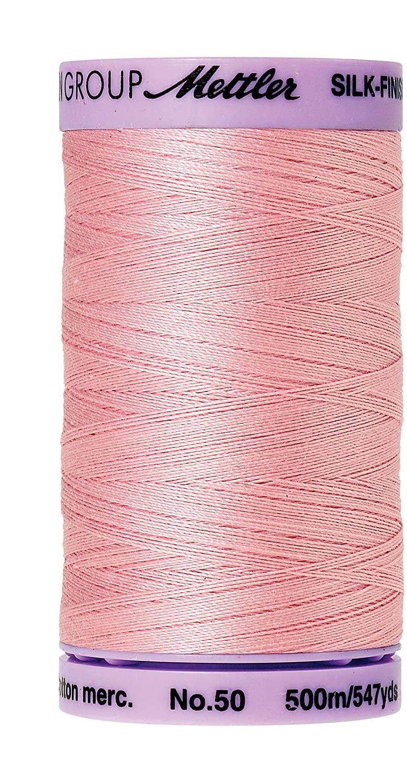 Mettler Silk-Finish Solid Cotton Thread, 547 yd/500m, Tea Rose