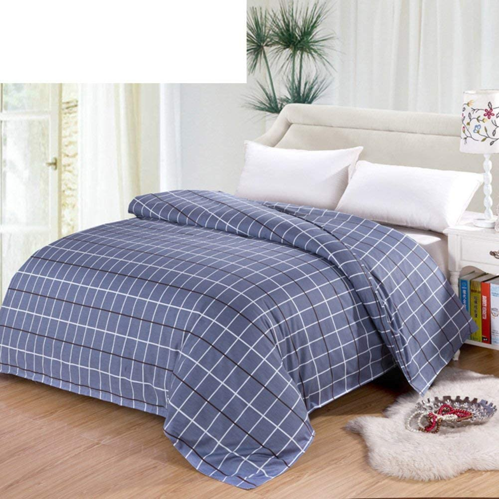WIN&FACATORY Duvet Cover in Cotton Four Seasons [Grid] Striped Single Student [Single] [Double] -M 200x230cm