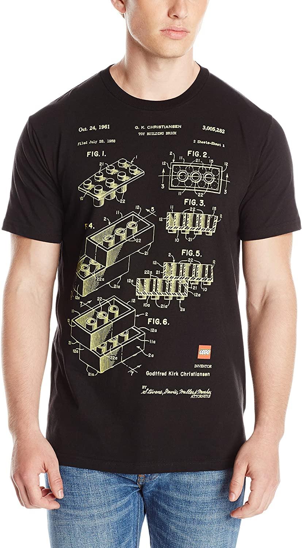 Lego Men's Blue Print T-Shirt