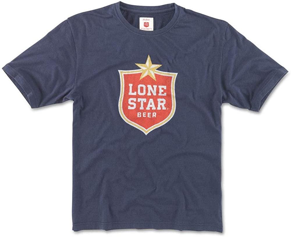 Lone Star Beer Navy Men's T-Shirt