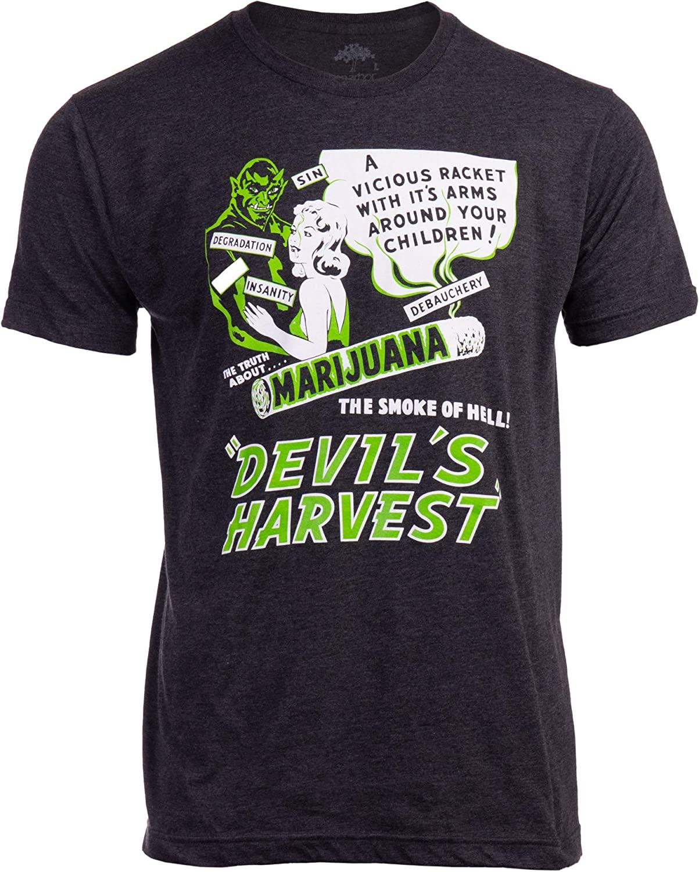 Devil's Harvest (1942 Poster) | Funny Absurd Vintage Drug War Marijuana Weed Pot Propaganda Men Women T-Shirt