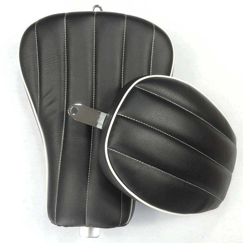 HONGK- Black Custom Front Back Driver Pssenger Kit Vertical Stripes Style Leather Seat Compatible with 2010 2011 2012 2013 2014 2015 Harley Davidson XL1200X X48 X72 [B01BI81MNQ]